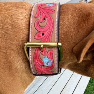 Dog Collar Carved & Painted